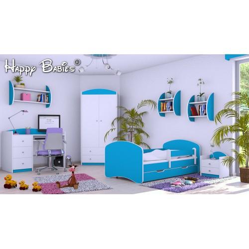 Dětská postel Happy Babies se zábranou Akvarijní 160x80 Dětská postel