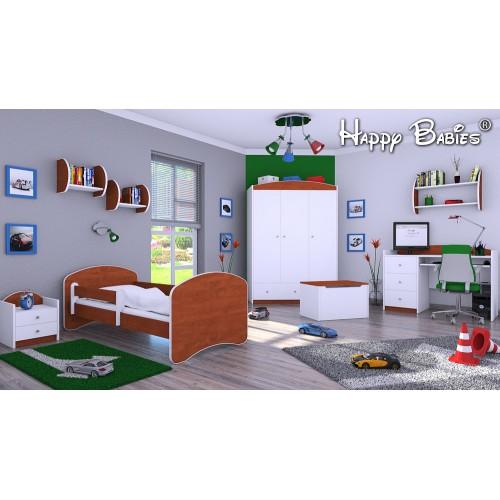 Dětská postel Happy Babies se zábranou Kalvados 180x90 Dětská postel