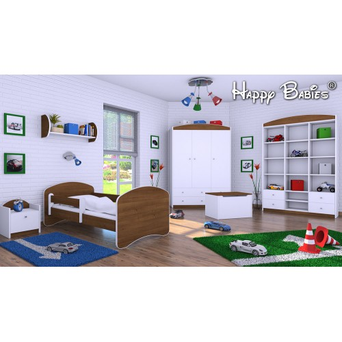 Dětská postel Happy Babies se zábranou Jasan 160x80 Dětská postel