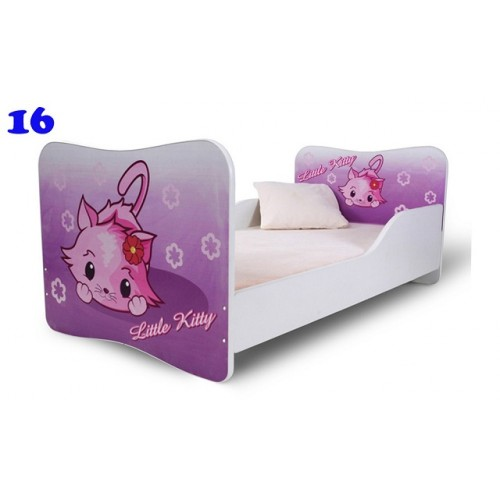 Dětská poste Adam Bílál little Kitty růžová 160x80 Dětská postel
