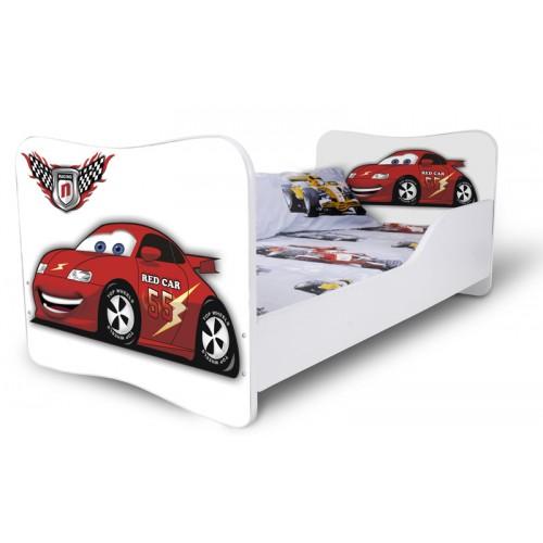 Dětská postel Adam Bílá Auto závodní bílá 160x80 Dětská postel