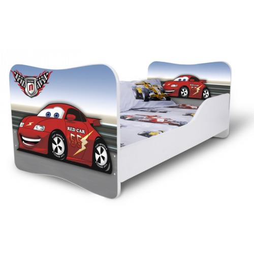 Dětská postel Adam Bílá Auto závodní 160x80 Dětská postel