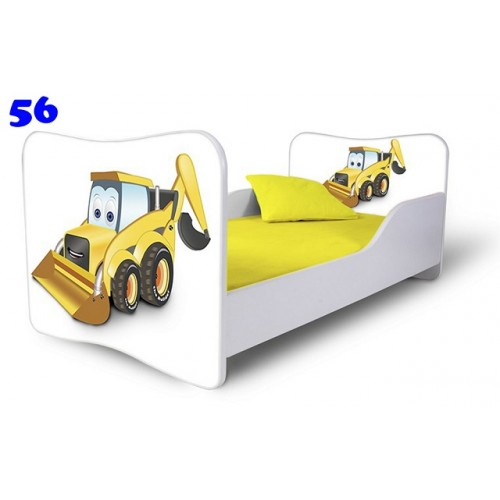 Dětská postel Adam Bílá bagřík bílá 180x80 Dětská postel