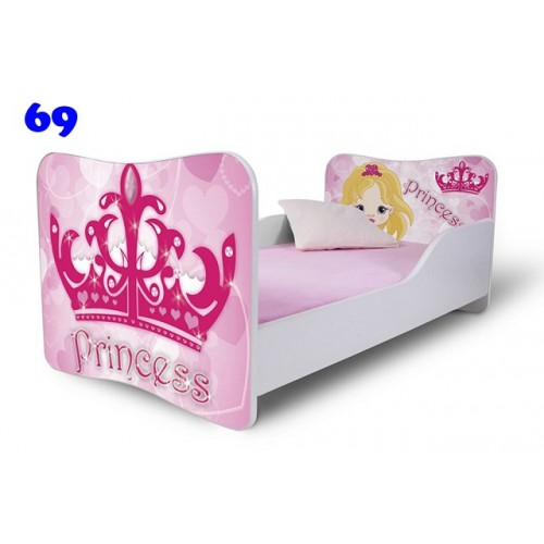 Dětská postel Adam Bílá princezna 180x80 Dětská postel