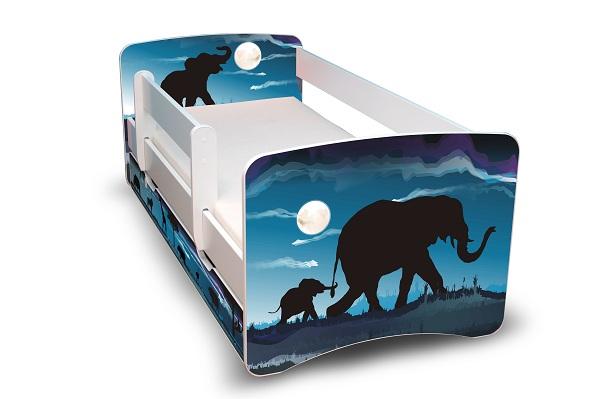 Postel Filip Bílá s bočnicí Afrika 180x80 Dětská postel