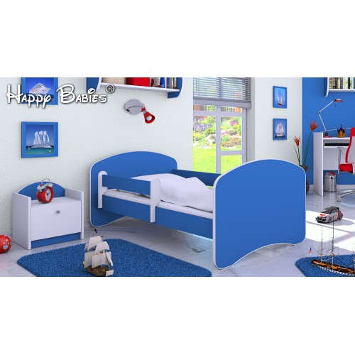 Dětská postel Happy Babies se zábranou nebeská 180x90 Dětská postel