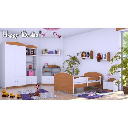Dětská postel Happy Babies se zábranou olše 160x80 Dětská postel