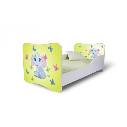 Dětská postel Sloník žlutá Dětská postel