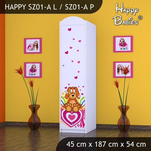 Dětská skříň Happy Babies Různé motivy Z01