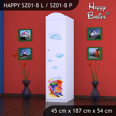 Dětská skříň Happy Babies Různé motivy Z01B