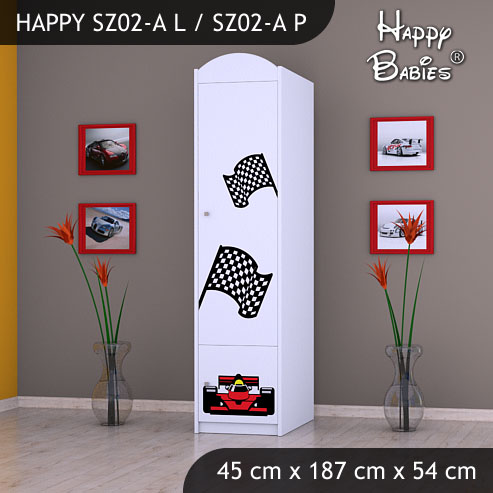 Dětská skříň Happy Babies Různé motivy Z02