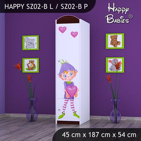 Dětská skříň Happy Babies Různé motivy Z02B