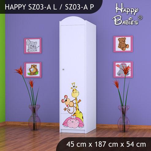 Dětská skříň Happy Babies Různé motivy Z03