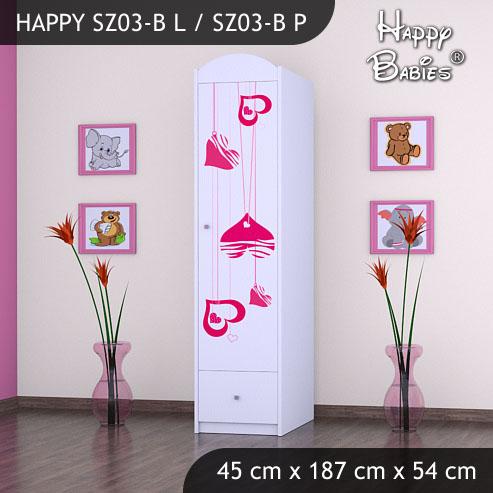 Dětská skříň Happy Babies Různé motivy Z03B