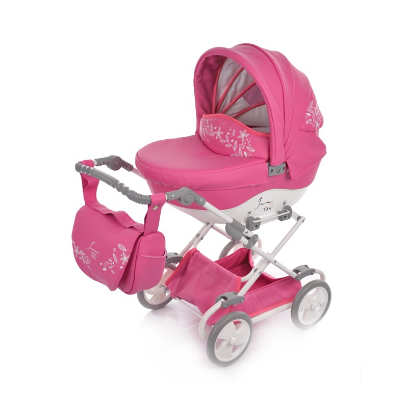 Kočárek pro panenky Junama Mini 01 růžová