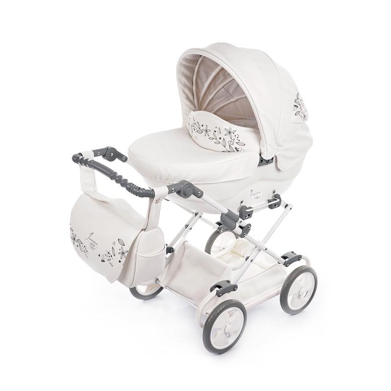 Kočárek pro panenky Junama Mini 02 bílá