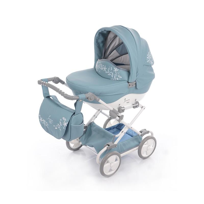 Kočárek pro panenky Junama Mini 06 modrá
