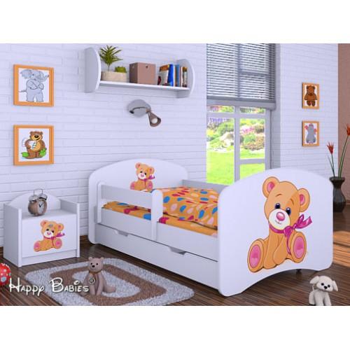 Dětská postel Happy Babies Duo Bílá s přistýlkou 01 180x90