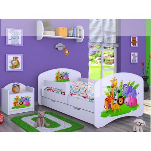 Dětská postel Happy Babies Duo Bílá s přistýlkou 02 180x90