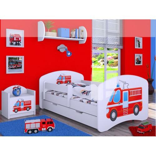 Dětská postel Happy Babies Duo Bílá s přistýlkou 03 180x90