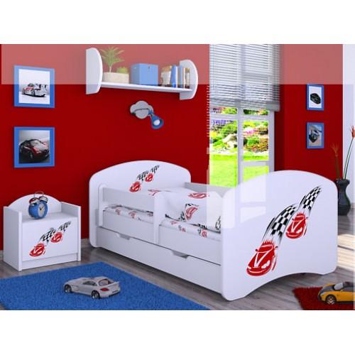 Dětská postel Happy Babies Duo Bílá s přistýlkou 04 180x90