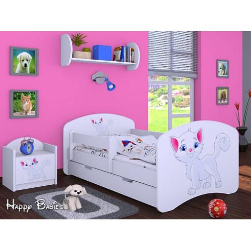 Dětská postel Happy Babies Duo Bílá s přistýlkou 06 180x90