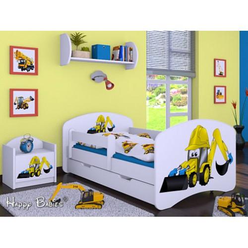 Dětská postel Happy Babies Duo Bílá s přistýlkou 07 180x90