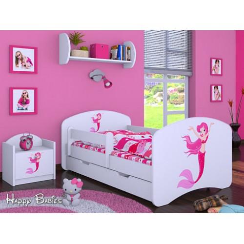 Dětská postel Happy Babies Duo Bílá s přistýlkou 08 180x90