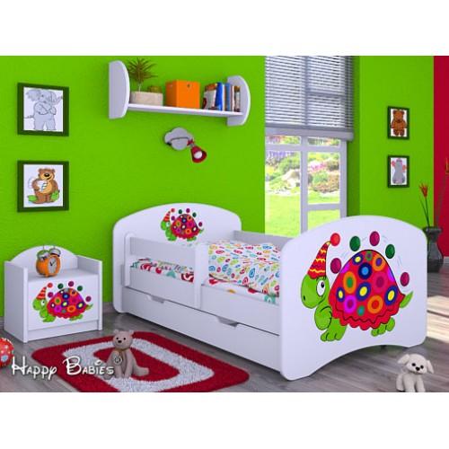 Dětská postel Happy Babies Duo Bílá s přistýlkou 09 180x90