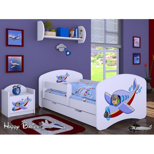 Dětská postel Happy Babies Duo Bílá s přistýlkou 10 180x90