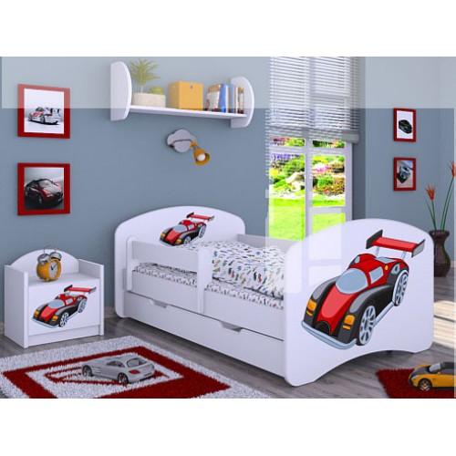 Dětská postel Happy Babies Duo Bílá s přistýlkou 11 180x90