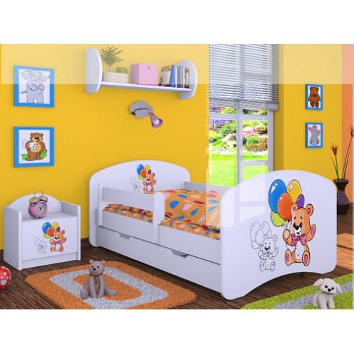 Dětská postel Happy Babies Duo Bílá s přistýlkou 12 180x90