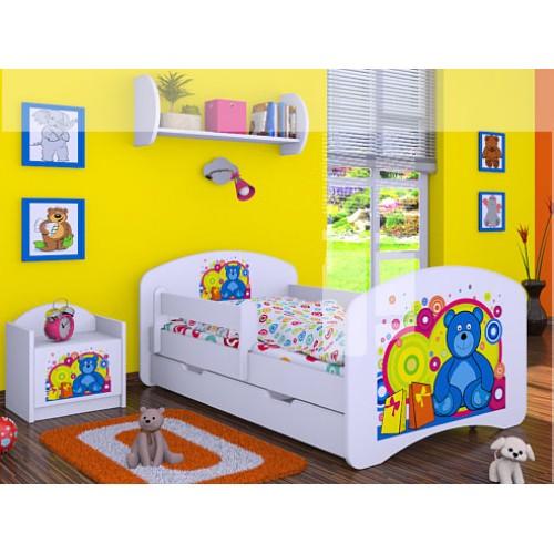 Dětská postel Happy Babies Duo Bílá s přistýlkou 13 180x90
