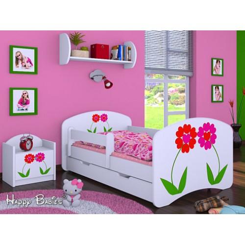 Dětská postel Happy Babies Duo Bílá s přistýlkou 14 180x90