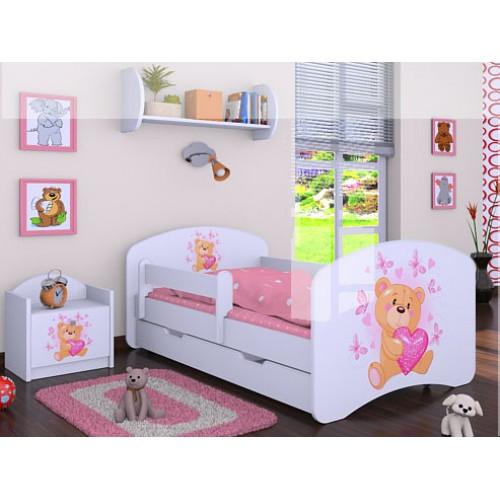 Dětská postel Happy Babies Duo Bílá s přistýlkou 15 180x90