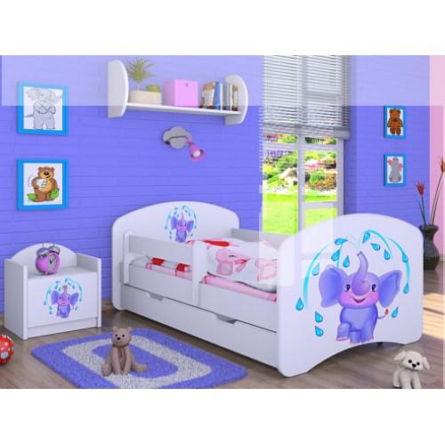 Dětská postel Happy Babies Duo Bílá s přistýlkou 16 180x90