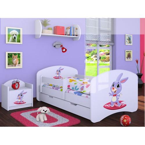 Dětská postel Happy Babies Duo Bílá s přistýlkou 17 180x90