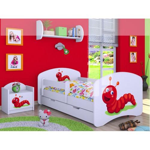 Dětská postel Happy Babies Duo Bílá s přistýlkou 20 180x90