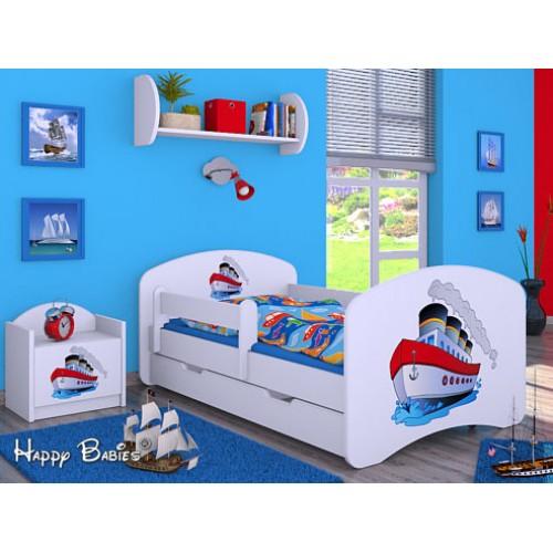 Dětská postel Happy Babies Duo Bílá s přistýlkou 21 180x90