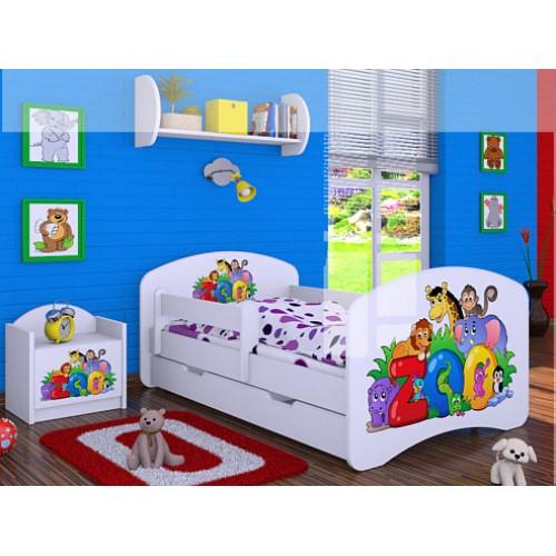 Dětská postel Happy Babies Duo Bílá s přistýlkou 22 180x90