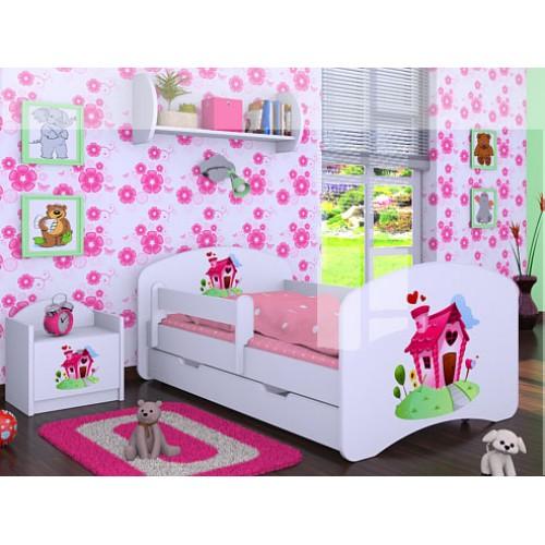 Dětská postel Happy Babies Duo Bílá s přistýlkou 23 180x90
