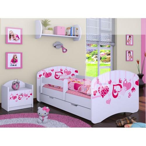 Dětská postel Happy Babies Duo Bílá s přistýlkou 59 200X90