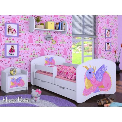 Dětská postel Happy Babies Duo Bílá s přistýlkou 60 180x90