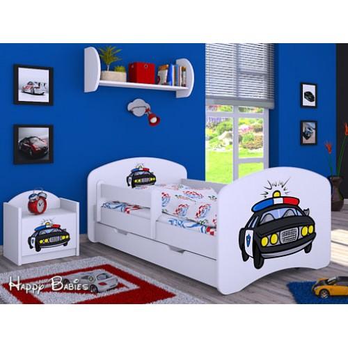 Dětská postel Happy Babies Duo Bílá s přistýlkou 61 180x90