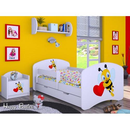 Dětská postel Happy Babies Duo Bílá s přistýlkou 62 180x90