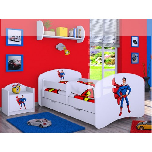 Dětská postel Happy Babies Duo Bílá s přistýlkou 63 180x90