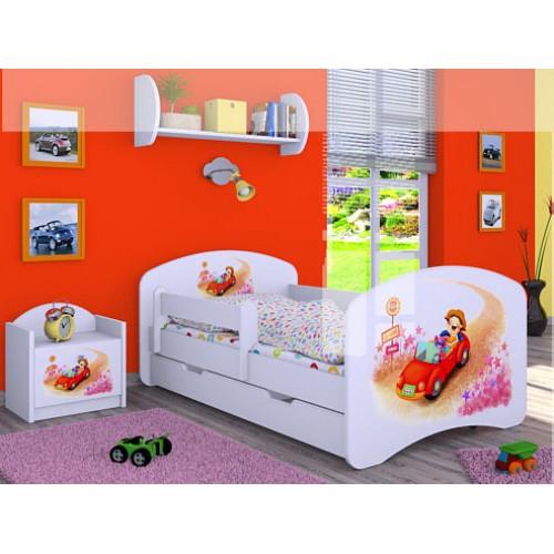 Dětská postel Happy Babies Duo Bílá s přistýlkou 65 180x90
