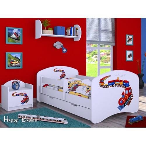 Dětská postel Happy Babies Duo Bílá s přistýlkou 66 180x90