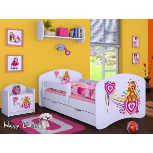 Dětská postel Happy Babies Duo Bílá s přistýlkou 67 180x90