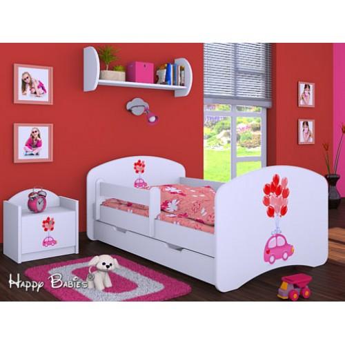 Dětská postel Happy Babies Duo Bílá s přistýlkou 68 180x90